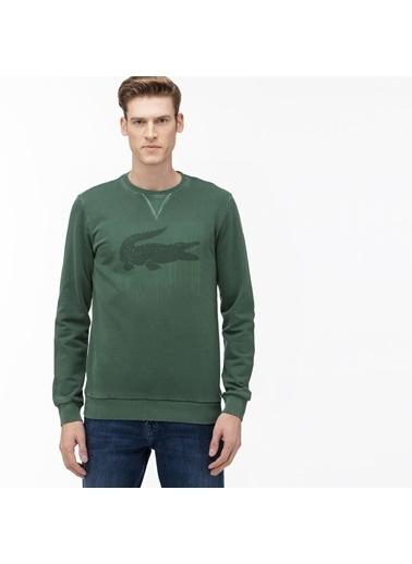 Lacoste Erkek Bisiklet Yaka Sweatshirt SH0016.132 Yeşil